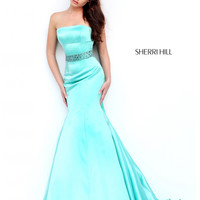 Sherri Hill Satin Mermaid Prom Dress 32194