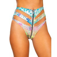 Cut You Down Strapped High Waist Rave Bottoms