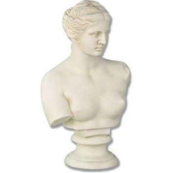 Venus De Milo Aphrodite Greek Goddess of Love Bust, Assorted Sizes