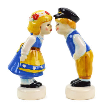 Vintage Salt and Pepper Shakers Swedish Standing Couple