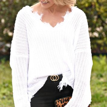Looking For Love Sweater - Ivory