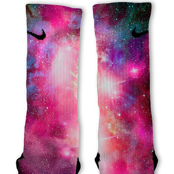 Galaxy Nebula Custom Nike Elite Socks!!