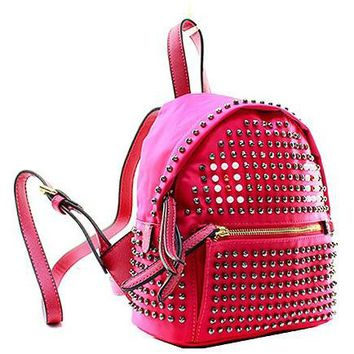 Fashion Studded Small Backpack