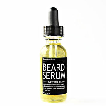 BEARD SERUM. extra strength beard oil. 100% natural & vegan beard oil serum - superfruit booster.