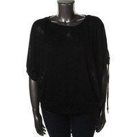 Style & Co. Womens Plus Knit Three-Quarter Sleeves Pullover Top