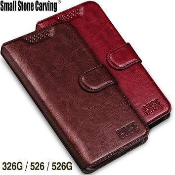 Soft Wallet PU Leather Case For HTC Desire 326G / Desire 526 526G dual sim 526G+ Cover Book Style with Card Holder capa