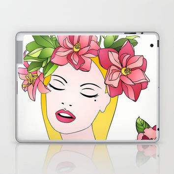 Spring lady Laptop & iPad Skin by MIKART