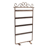 2015 new arrival Hot 48 Hole Earrings Jewelry Display Rack Metal Stand Holder Showcase