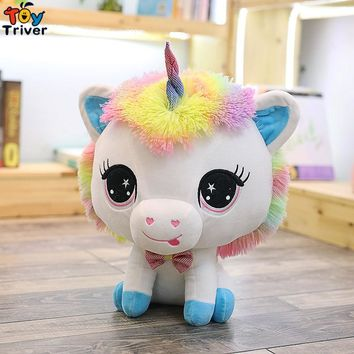 35cm Plush Unicorn Toy Stuffed Animal Horse Baby Kids Children Birthday Gift Shop Home Decor Ornament Drop Shipping Triver