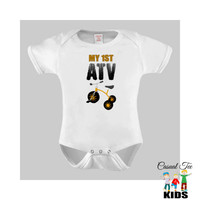 My 1st ATV Funny Baby Bodysuit or Toddler Tshirt Baby Boy Toddler Boy Boys Clothes, Bike, Tricycle