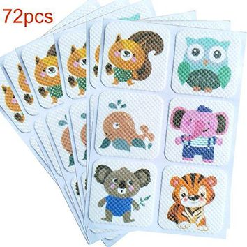 72-COUNT Mosquito Repellent Patch Keeps Insects and Bugs Far Away, Simply Apply to Skin and Clothes , Adult, Kid and Pet-Friendly , Convenient For Travel, Outdoor Concerts and Camping