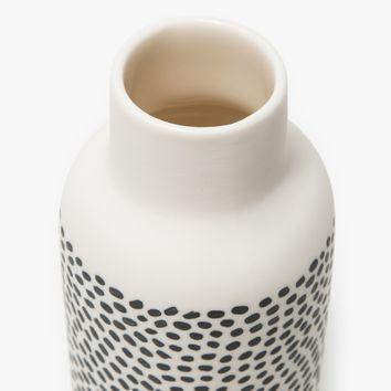 The Granite / Bottle Vase in Black & White - Spotted