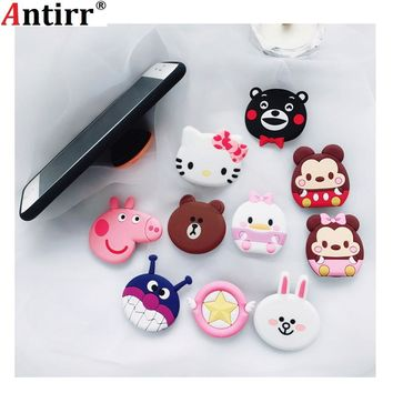 For iPhone Cute hello kitty bear cony Phone  Expanding Stand Finger Holder For Samsung Xiaomi Mobile Smartphone Stand Holder