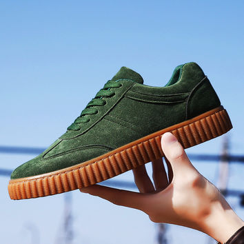 Stylish On Sale Comfort Casual Autumn Low-cut  Shoes Suede Sneakers [10611573583]
