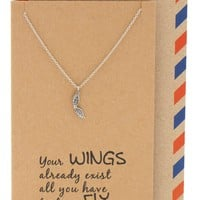 Adannaya Graduation Gifts for Her, Wing Necklace, Graduation Jewelry