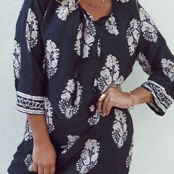 Cupshe Field Day Leaves Printing Casual Dress