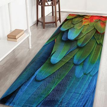 Extra Large Feather Pattern Home Floor Rug