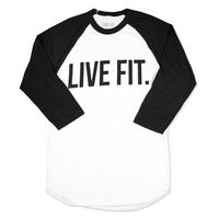 Live Fit. Apparel — Live Fit. Baseball Raglan - White/Black