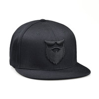 OG Beard Logo Stretch Fit Hat Black/Black