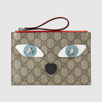 Gucci Children's GG Supreme cat wristlet