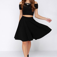 Noir Sighted Black Midi Skirt