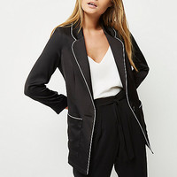 Black satin jacket - coats / jackets - sale - women