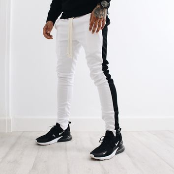 Amari Track Pants (White/Black)