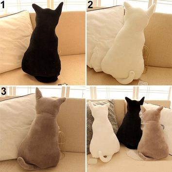 3 Colors Cute Cat Soft Plush Back Shadow Toy Sofa Pillow Seat Cushion Birthday Gift