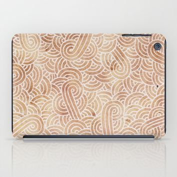 Iced coffee and white zentangles iPad Case by Savousepate