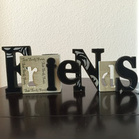 Friends Cut- Out with T-Light Candle Holder