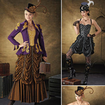 Steampunk Dress Pattern, New Simplicity 1248, Jacket and Skirt Pattern, paper pattern, Corset Pattern, Dress Pattern