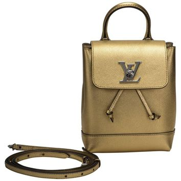 Vuitton Sold Out New Gold Lockme Mini Backpack