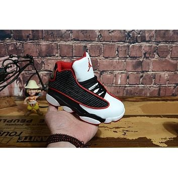 Kids Air Jordan 13 Retro White/black/red Sneaker Shoe Size Us 11c 3y | Best Deal Online