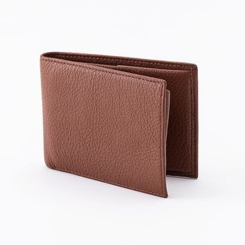 Rolfs Holden Tumbled Leather Bifold Wallet (Brown)