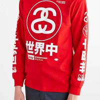 Stussy Japan International Long-Sleeve Tee- Red