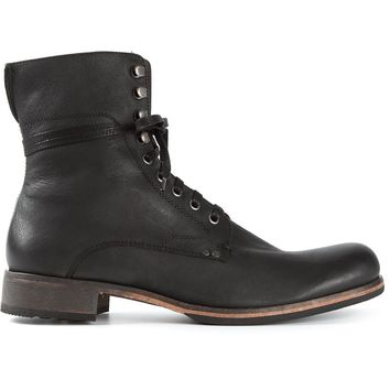 John Varvatos lace-up boots