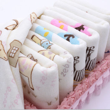 Baby Washcloth Baby Feeding Baby Face Towels Washers Hand Cute Cartoon Wipe Wash Cloth Cotton