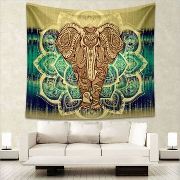 Indian Elephant Mandala Tapestry Wall Hanging Bedspread Throw Hippie Boho Decoration L:203*153cm M:150 *130cm New Arrival