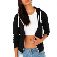 Missguided - Fosetta Zip Hoodie In Black