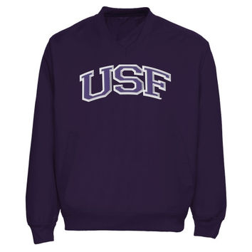 University of Sioux Falls Cougars Arch Name Pullover Windbreaker Jacket - Purple
