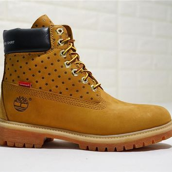 Supreme x CDG x Timberland Premium 6 Inch Leather Boots TB0A14MC