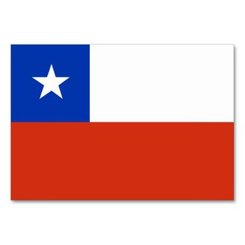 Patriotic table card with Flag of Chile