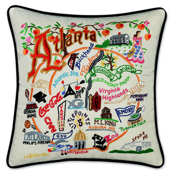 Atlanta Hand Embroidered Pillow