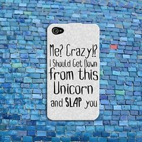 Funny Animal Unicorn Quote Case Cute Rubber iPod Cover iPhone 4 4s 5 5s 5c 6 6s