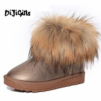 Women's Shoes Thick Fur Fashion Snow Boots Winter Cotton Warm Shoes For Women Ankle Boots