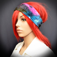 Stretchy headband with colorful galaxy stars by Pixiesdance