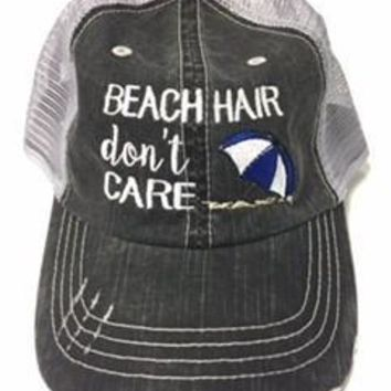 Beach Hair Don't Care Baseball Cap