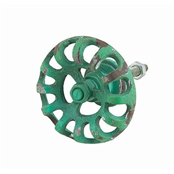 Vintage Garden Faucet Drawer Cabinet Cupboard Pull Knob (Green)