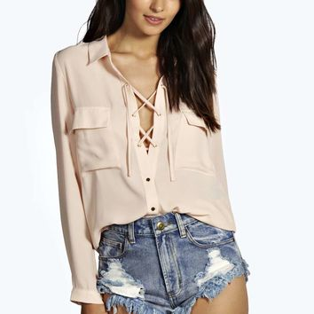 Sofia Lace Up Shirt