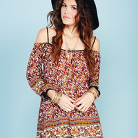 Paisley Print Festival Tunic | Wet Seal